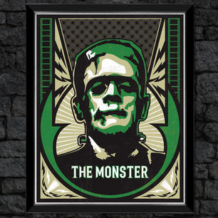 "Frankenstein ""The Monster"": Classic Universal Monsters Print"