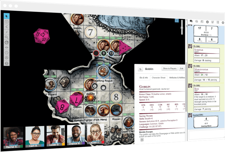 Socially Gaming Roll20 Dungeons and Dragons