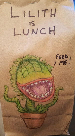 Socially Gaming feed me lunch bag art