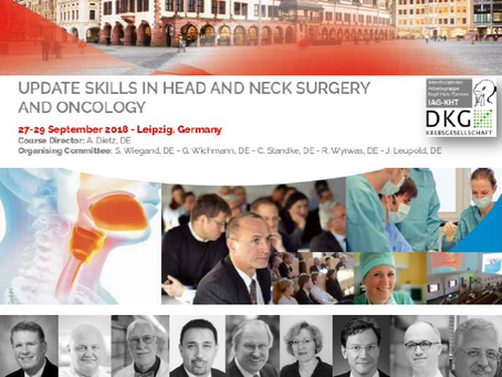 Kurs: UPDATE SKILLS IN HEAD AND NECK SURGERY AND ONCOLOGY - Leipzig - 27.-29. September 2018