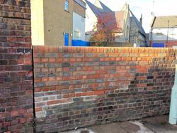 Wall repair at NHS Hospital
