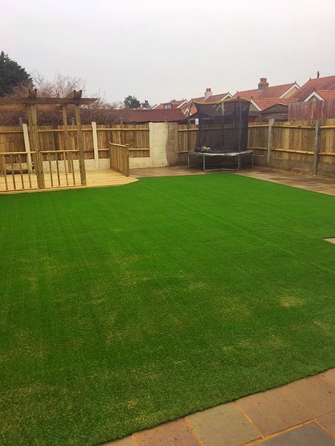Decking and astroturf installed