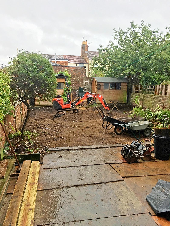 Garden re-landscaping