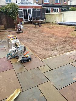 Patio & astroturf re-landscaping