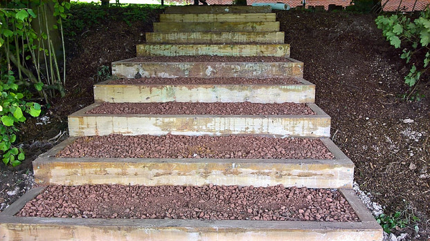 Steps to woodland