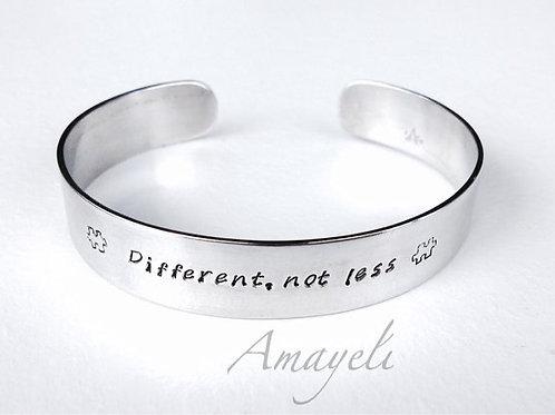 custom, hand stamped aluminum cuff bracelet