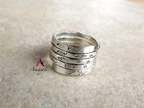 custom stamped sterling silver ring