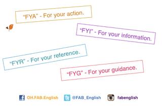 FYI, FYA, FYR, FYG แปลว่าอะไรกัน?