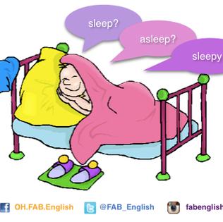 sleep, asleep กับ sleepy ต่างกันอย่างไร