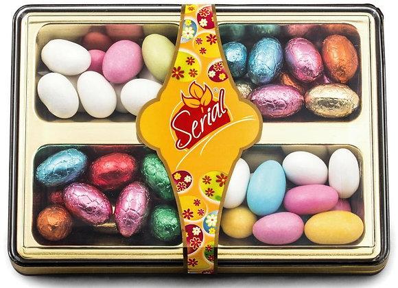 1433 Acétates d'amandes et petits oeufs chocolat (240gr)