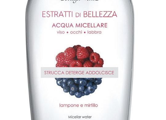 BLUEBERRY & RASPERY COMBI  ( eau micellaire & mark & cream) Cod. 155818