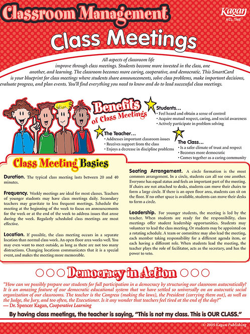 Class Meetings SmartCard