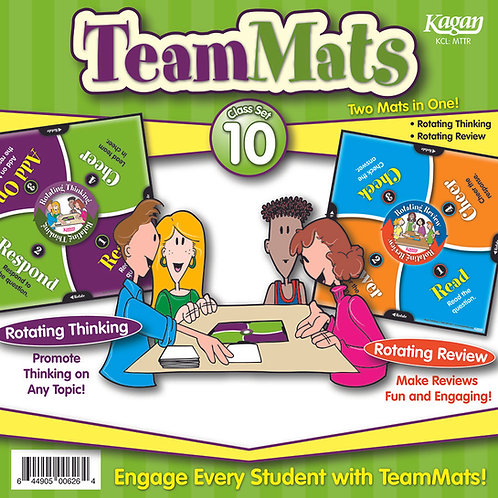 TeamMats Class Set of 10 - Rotating Thinking & Rotating Review