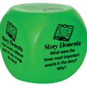 Learning Cubes - Story Elements - Class Set of 8