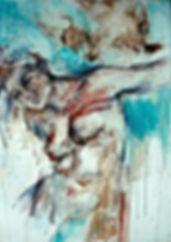 Etat de figure. L'nstant suspendu. Acrylique sur toile 92 X 65 cm