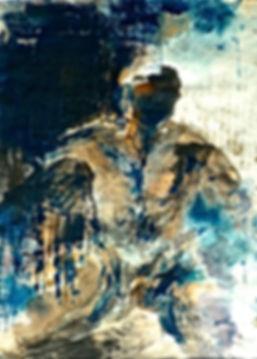 2 L'homme bleu. encre sur papier 40 X 50