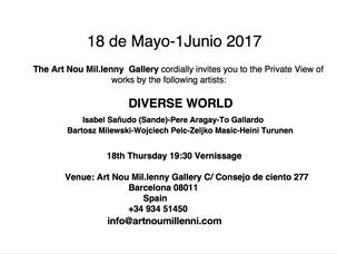 Diverse World / Art Nou Mil.lenny Gallery, Barcelona / 18.5.-1.6.2017