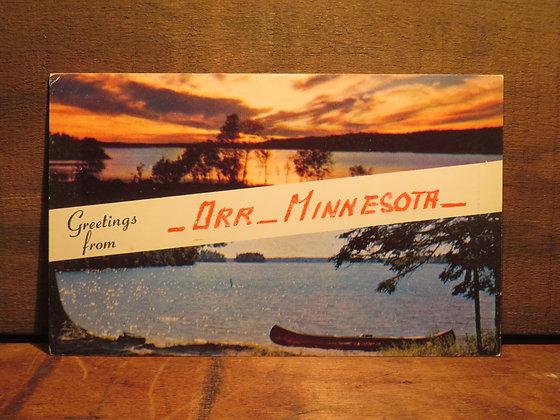 Greetings From Orr -Minnesota