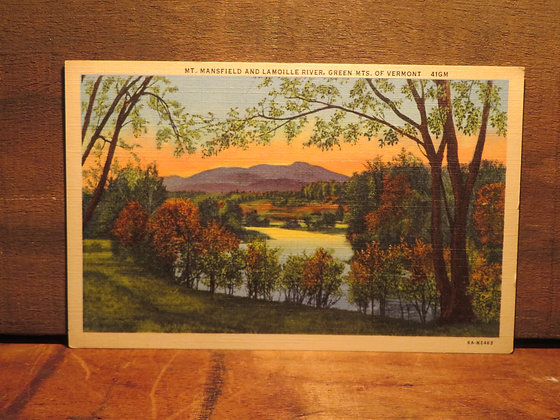 Mt. Mansfield And Lamoille River, Vermont