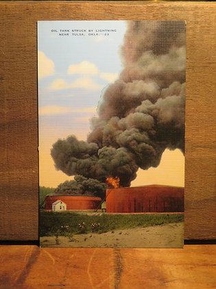 Oil Tank Struck by Lightning, Tulsa, Oklahoma
