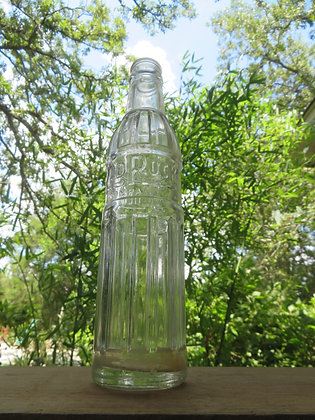 Red Rock Embossed Clear Bottle