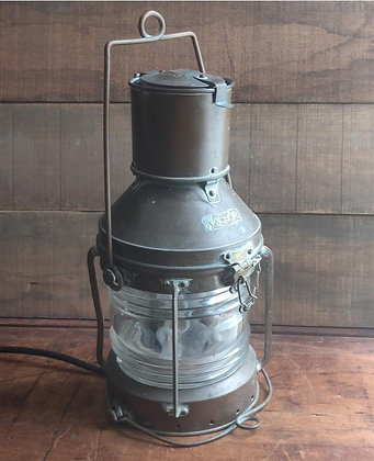 Anchor Brass and Glass Ship Light Lamp