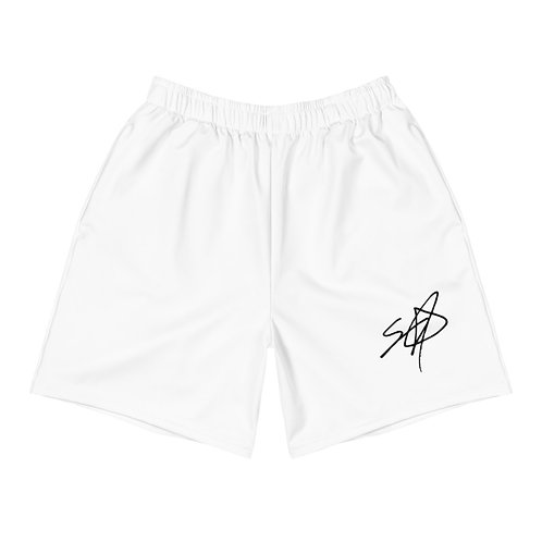 Shrodrick Spikes Athletic Unisex Shorts   White