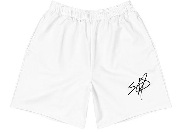Shrodrick Spikes Athletic Unisex Shorts | White