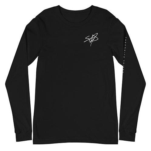 Shrodrick Spikes Signature Unisex Long Sleeve Shirt   White Logo