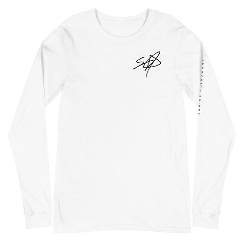Shrodrick Spikes Signature Unisex Long Sleeve Shirt | Black Logo