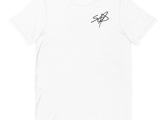 Shrodrick Spikes Signature Unisex T-Shirt | White