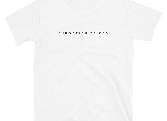 Shrodrick Spikes Contemporary Creative House Unisex T-Shirt | White