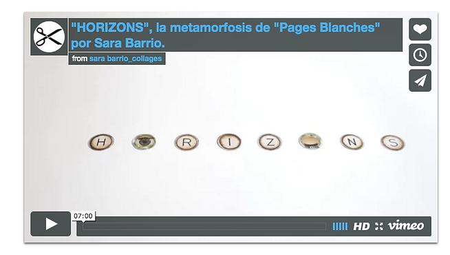 video horizons Sara Barrio collages