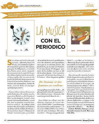 sara barrio, collages, paper, george & lorette