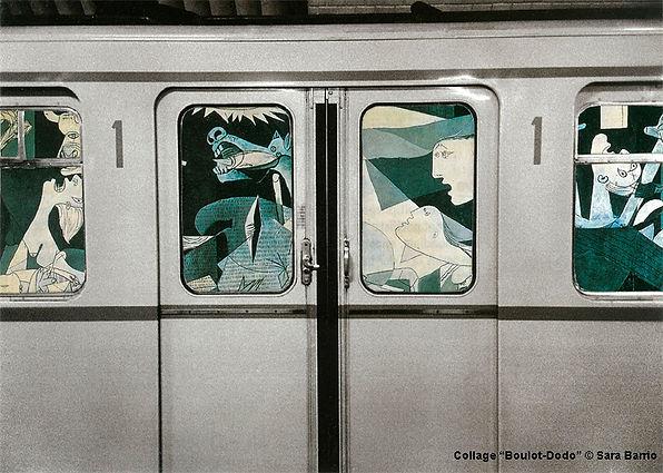 exposición Boulot-Ciseaux, Sara Barrio, collages, paper, 1944 gallery, vegan, boulot dodo,