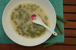Hrášková polievka s basmati ryžou