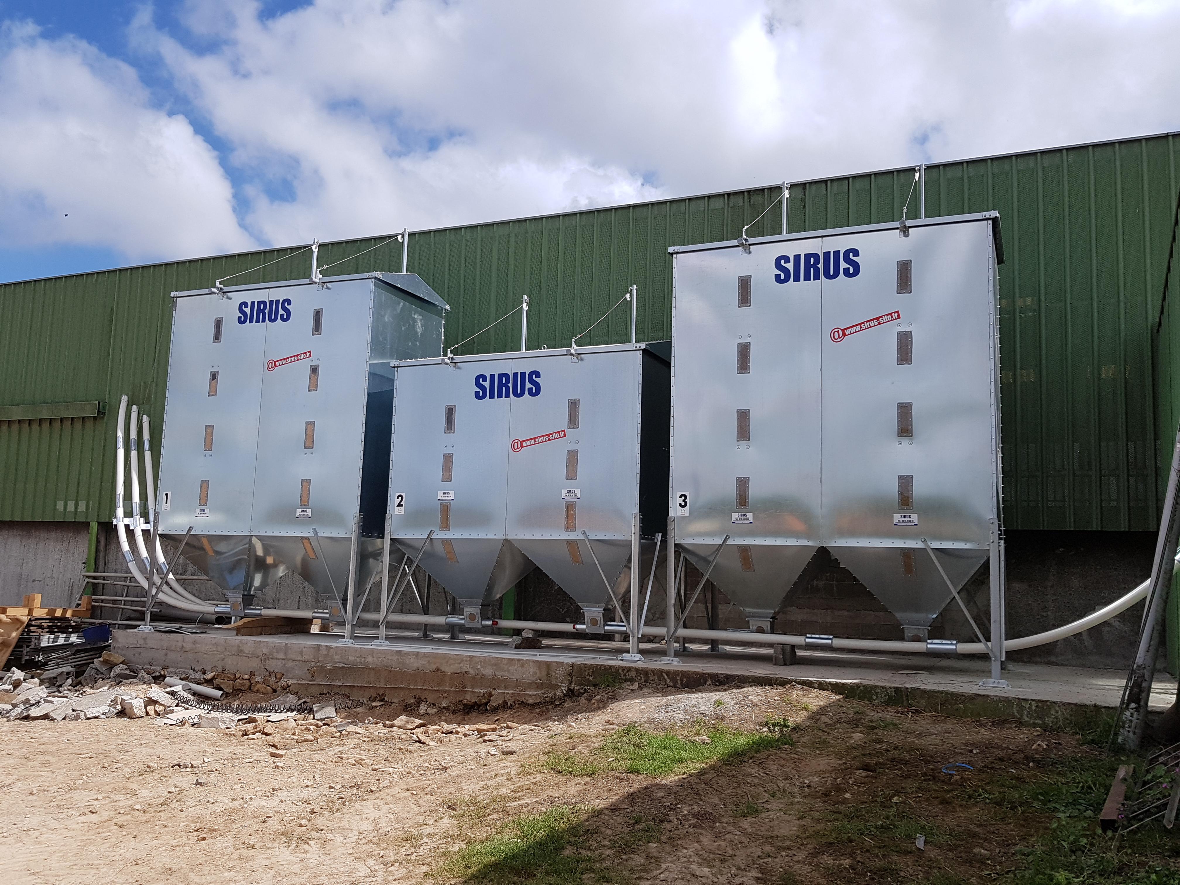 Vis de transfert sur silo