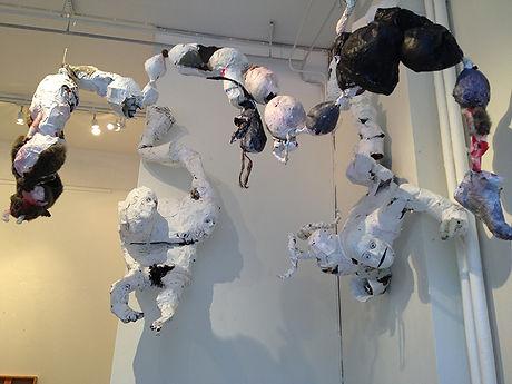 """Photo from the installation at Galleri Kronan, Norrköping, during the Pride-exhibition """"Men hur ser du ut egentligen"""""""