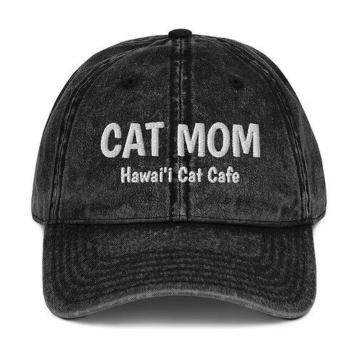 Vintage Cat Mom Cap