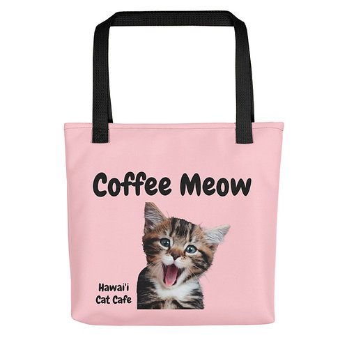 Coffee Meow Pink Tote bag