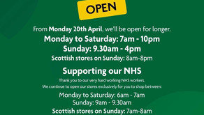 Morrisons' opening hours from Monday 20 April