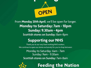 Morrisons' opening hours