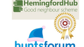HEMINGFORD HUB's team highly commended by Hunts Forum's Volunteer Awards