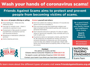 Trading Standards raises awareness of Covid-19 related scams