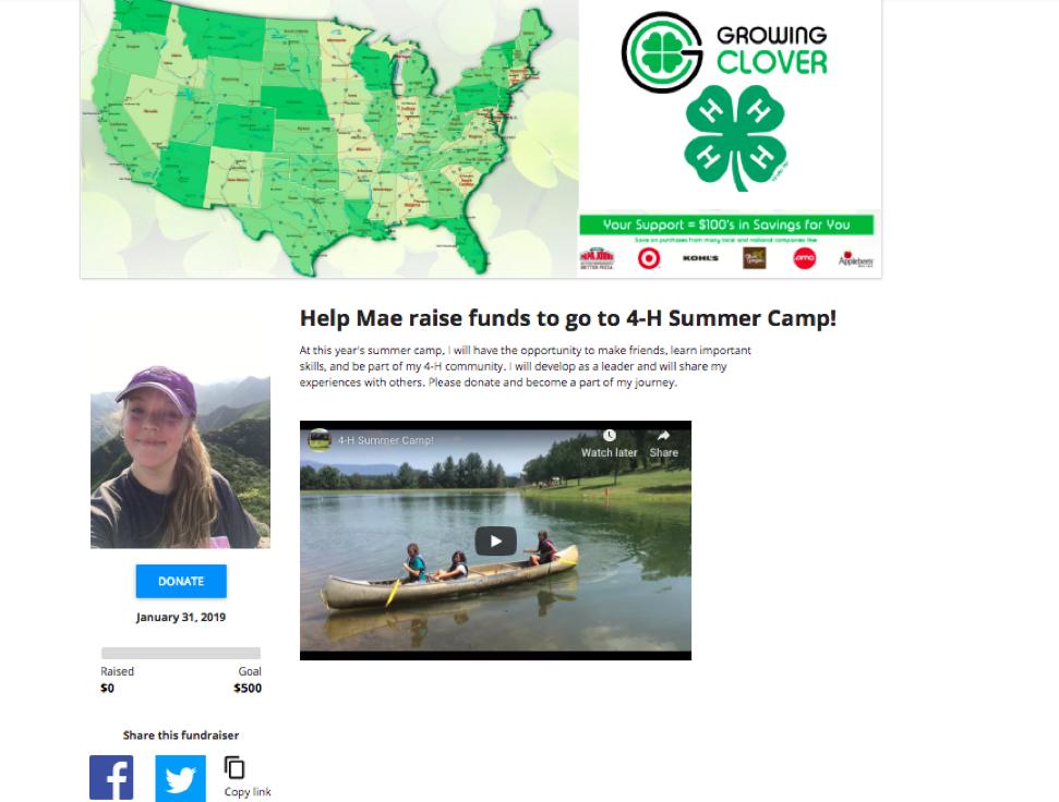 Personalized Fundraising Pages