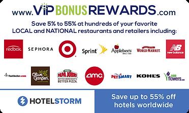 VIP Bonus Rewards Card