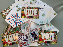 Postcarding / 100 yrs vote party!