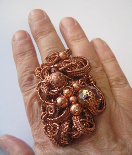 OOAK ring by Myrna Giesbrecht