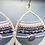 Thumbnail: Textured Brass Drop Pendant Earrings