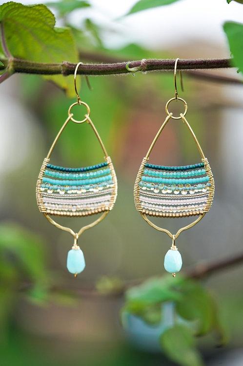 Raw Brass Drop Earrings